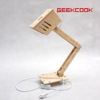 创意家居-DIY拼装木质台灯