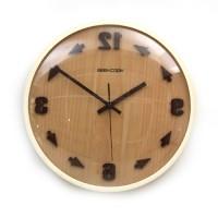 时光倒流反转创意实木挂钟