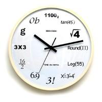 GeekCook 婉约数字圆形实木壁钟