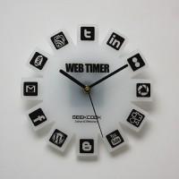Web2.0图标壁钟