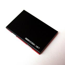 红与黑铝制名片盒:相识