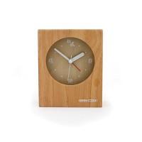 实木田园闹钟:一块原木闹钟