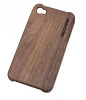 一体式黑胡桃iphone4/4S木质保护套