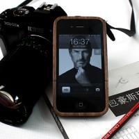 分离式黑胡桃iPhone4/4S木质保护套