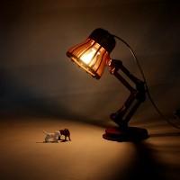 DIY皮克斯木质创意台灯 LED护眼台灯 卧室床头灯