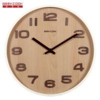 加大木质挂钟:典雅数字