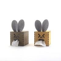 GeekCook极客库偶兔1号DIY卷纸纸巾盒 木质纸巾收纳盒