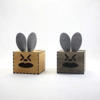 GeekCook极客库偶兔2号DIY抽纸纸巾盒 木质纸巾收纳盒