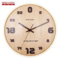 24小时制实木创意挂钟