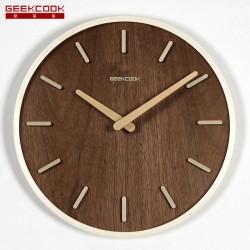 曲木立体挂钟:挪威森林刻度款